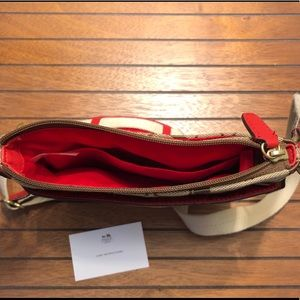 Coach Bags - NWOT COACH Legacy Signature Swingpack - Coral Red